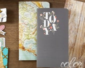 Color Crush Travelers Notepad Inserts Set 2/Pkg Today & Map (NP105)