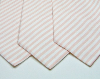 Dusty Rose Neckties Blush Neckties Wedding Neckties Blush Stripe Neckties Light Pink Neckties Mens Neckties Custom Neckties
