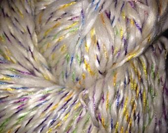 "205 Yards Luxury Silk/Alpaca/Merino/Bamboo Two Ply Yarn ""Rainbow Sprinkles"""