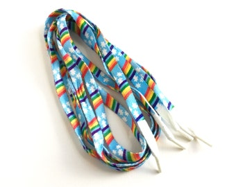 Vintage 1980s Rainbow Shoelaces 40""