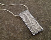 USB flash drive necklace - handmade art jewelry