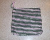Pot holder, potholder, crochet pot holder, crochet trivet, hot pad, crochet hot pad, cotton trivet, cotton hot pad, variegated hot pad
