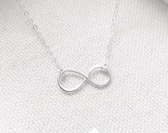 SALE - Sterling Silver Infinity Necklace - Infinity Charm Sterling Silver Fine Cable Chain - Perfect Gift - the lovely raindrop