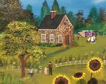 """Shine On""""  acrylic painting folk art"""