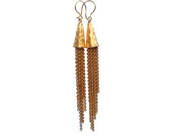 Gold Rush - Gold Tassel Earrings, Gold Chain Earrings, Fringe Earrings, Gold Tassel Earrings, Boho Earrings, Statement Earrings