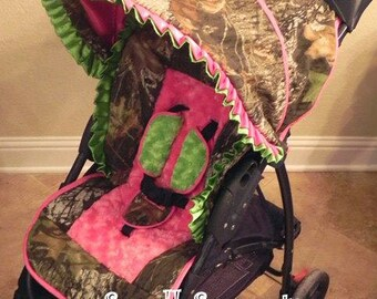 Liberty Mossy Oak/Lime/Hot Pink Stroller Cover