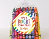 First Day of School Stickers - Have a BRIGHT School Year - Sheet of 12 or 24