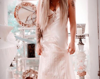 sm med Festival maxi dress, Boho maxi slip dress, Music festival dresses, Romantic bridal maxi dress, Bohemian Bride, True rebel clothing