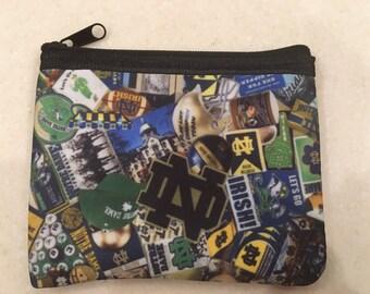 Notre Dame  zipper wallet