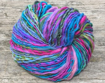 Handspun worsted weight merino yarn, 100 yards and 1.75 ounces/49 grams