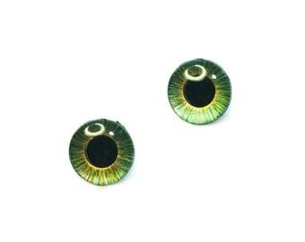 Blythe eye chips   custom handpainted eyechips   Golden Haze