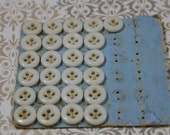 Vintage China Porcelain Buttons 25 4 Hole Reenactment Clothing Underwear White China Button