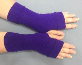 Fingerless gloves purple middle length   Jersey Mitt