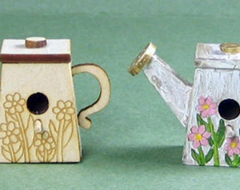 Watering Can Birdhouse Kit 1:12 Scale