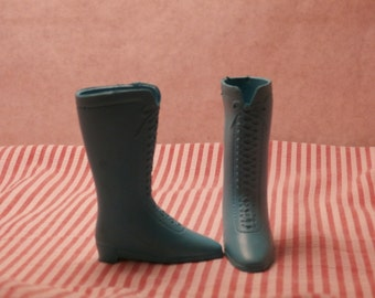Blue Boots Shoes for Ideal Crissy Doll, Turquoise or Aqua Blue