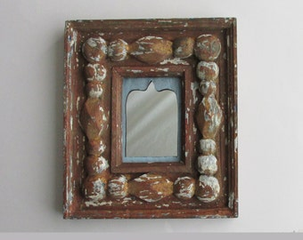 ornate wood mirror - Global Antique  - feng shui - moroccan