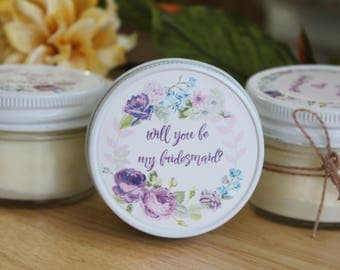 Will You Be My Bridesmaid gift Candle, Bridesmaid box, gift custom, Gift for  Maid of Honor, flower girl gift , be my bridesmaid