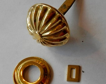 hollow spool cabinet knob brass split back