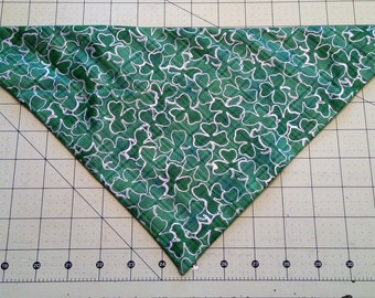 Dog Bandana, St. Patrick's Day, neckerchief, shamrock, March, Irish, scarf