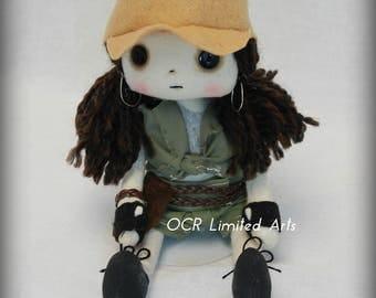 Rosita Espinoza Inspired The walking Dead Art doll cute Fantasy button eye  Gift Handmade OOAK Collectible  OCR