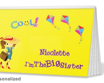 Brag Book-Big Sister in Yellow-I'm The Sister Brag Book -  I'm The Big Brother Brag Book - Photo Album -  Big Sister Gift, Big Brother Gift
