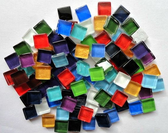 100 10mm mini crystal glass mosaic tile mix mosaic for Mosaic pieces for crafts