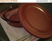 BLACK FRIDAY SALE Vintage Corning Vision Casserole Dish, Cranberry, w/Storage Lid, 1 1/2 Qt