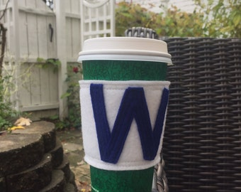 Chicago Cubs W coffee cozy Cubs Win