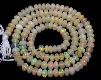 Ethiopian Opal Smooth Roundel (Quality AA) / 3.5 to 4.5 mm / 36 cm / ET-073