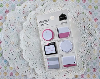 Schedule Marker - Memo Pad - Sticky Note - Post It - Planner - Diary Planner - Bookmark - Ready to ship