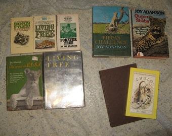 9 Books JOY ADAMSON ELSA Collection + More! Hardback and Paperback Lioness, Lion Leopard Cheetah, White Lions of Timbavati, Chulo Coatimundi