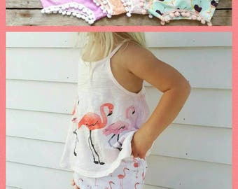 Girl Bloomers - Toddler Girl Bloomers - Pom Pom Shorts - Pom Pom Bloomers - Birthday Outfit - Easter Outfit - Cotton Bloomer - Baby Girl