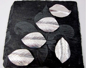 Silver Leaf Supply -- Leaf Jewelry Components -- Leaf Drop Supply -- Silver Leaf Components -- Leaf Pendant Components -- Metal Leaf Pieces