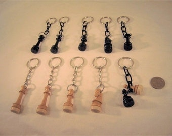 Chess pieces keychains- small size
