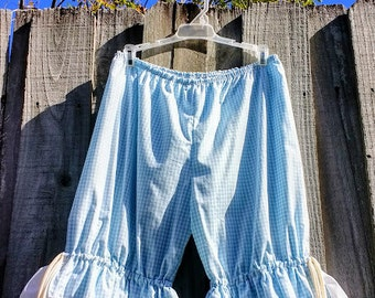 Light blue check bloomers Ready t ship SZ Large US Free shipping
