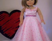 Lovely Valentine Evening Dress or Gown for your American Girl doll by CarmelinaCreations