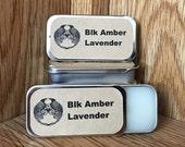 Black Amber & Lavender Solid Perfume Balm