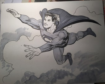 Superman sketch by Steve Lieber