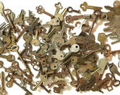 Huge Pile of Vintage and Antique Keys
