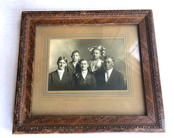 Ornate Antique Frame w old Photo