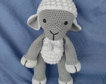 Lamb, Crochet Lamb, Crochet Sheep, Sheep Plush, Lamb Plush, Stuffed Sheep, Stuffed Lamb, Lamb Amigurumi, Sheep Amigurumi