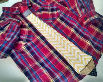 Pencil Tie, Kids Neck Tie, Boys Tie, Children's Tie, Dress Up Tie, Men's Neck Tie, Teacher Gift, Writer's Gift, Artist Gift, MADE TO ORDER