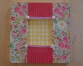 Floral Decoupaged Picture Frame Special Order