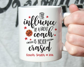 Basketball Coach Gift Coach Gift Ideas Coach Gifts Coach Mug Coach Coffee Mug Custom Gift for Basketball Coach Stars Custom Coach Mug Orange