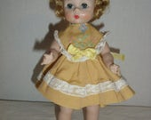 Madame Alexander-kin Bent Knee Walker Doll.  Three Outfits and Panties with Alexander Label