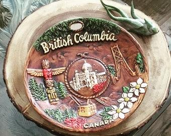Vintage Souvenir Plate British Columbia Canada