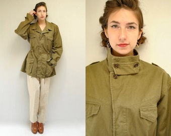 French Military Jacket  //  70s Army Jacket  //  DES VOSGES