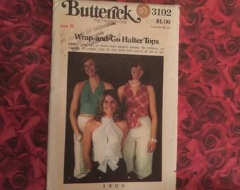 70's Vintage Halter Top Sewing Pattern