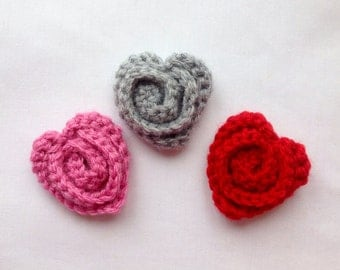 Crochet Heart Pin, Crochet Scarf Pin, Valentine Pin, Valentine Gift, Valentine Heart, Gift for Her, Gift for a Woman