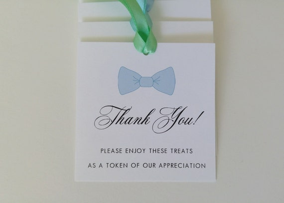 Bow tie baby boy shower gift tags for guest favors bow tie thank bow tie baby boy shower gift tags for guest favors bow tie thank you tags party favor tags handmade personalized favor tags from inkpartyemporium on etsy negle Gallery